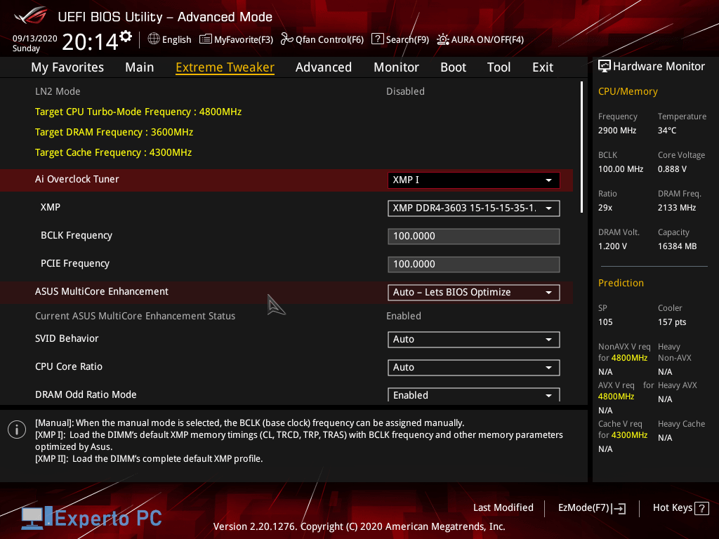 Asus Maximus XII Apex Gaming Review bios 5 39