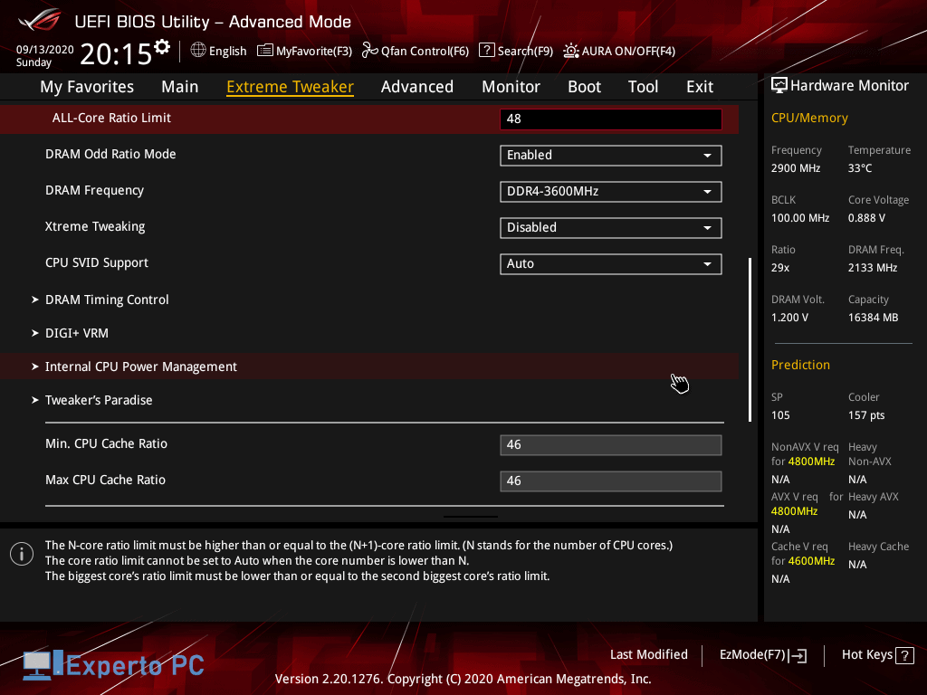 Asus Maximus XII Apex Gaming Review bios 7 43
