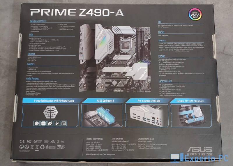 Asus Prime Z490-A Review presentacion 2