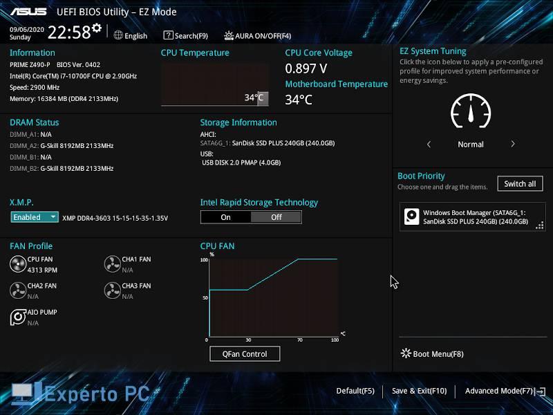 Asus Prime Z490 P Review bios 1 36