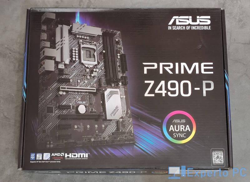 Asus Prime Z490-P Review caja frontal
