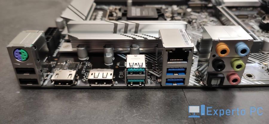 Asus Prime Z490-P Review panel trasero