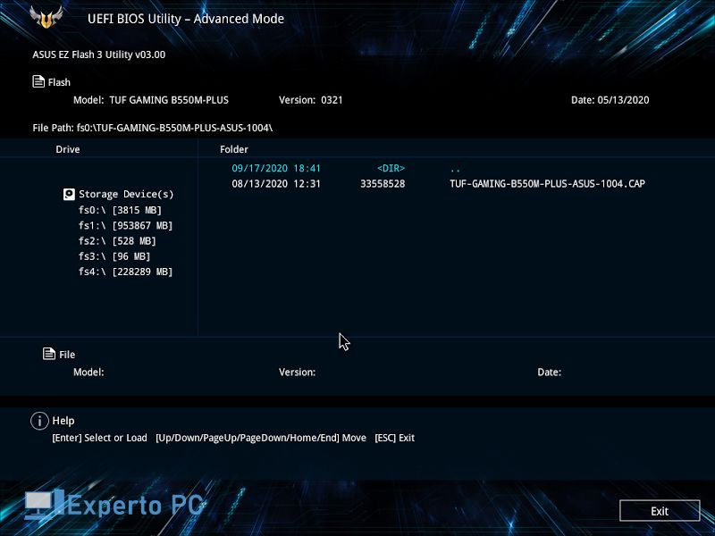 Asus TUF B550M Plus review bios 1 16