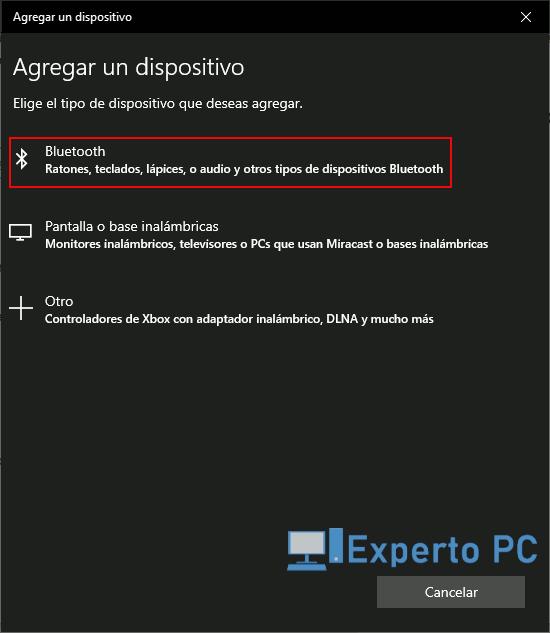 Como emparejar dispositivos Bluetooth con Windows 10 3 13