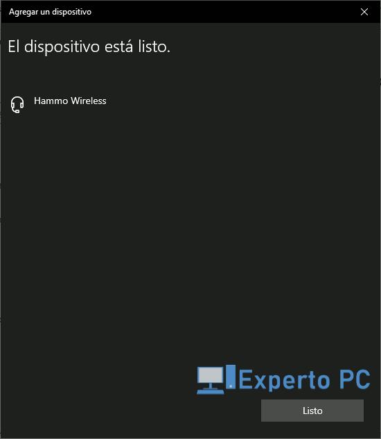 Como emparejar dispositivos Bluetooth con Windows 10 4 15
