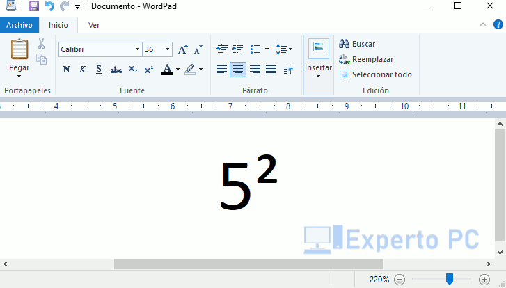 Como poner el símbolo al cuadrado con el teclado