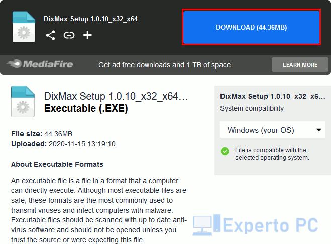Descargar DixMax gratis para Windows 10 5