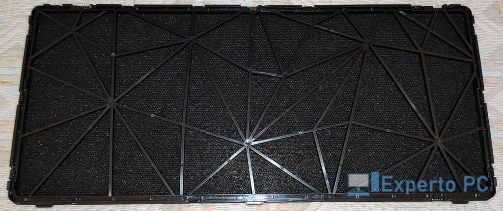 Fractal Design Meshify S2 vista cercana filtro superior