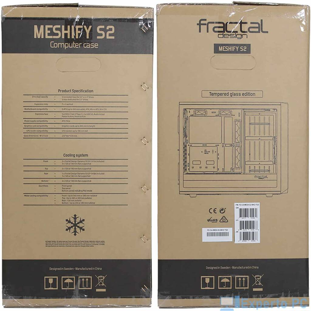Fractal Design Meshify S2 laterales