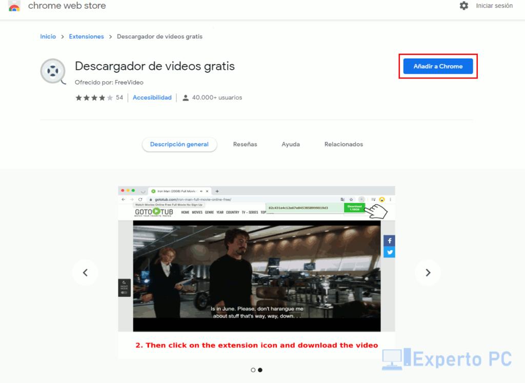 Instalar Free Video Downloader en Chrome 1