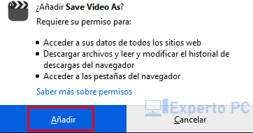 Instalar Free Video Downloader en Firefox 2