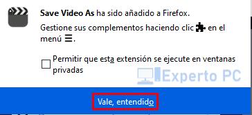 Instalar Free Video Downloader en Firefox 3