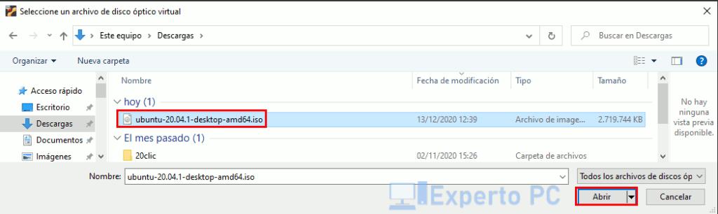 Instalar sistema operativo en VirtualBox 4