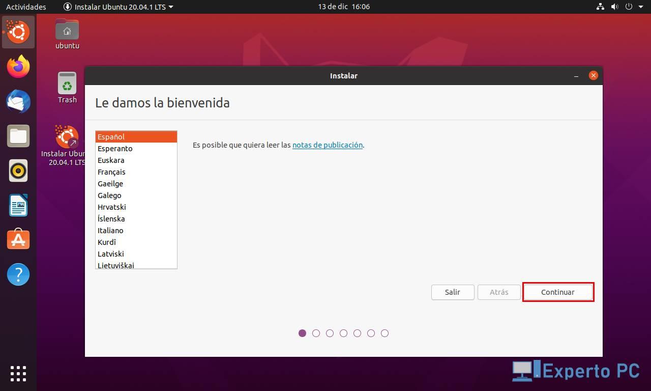 Instalar sistema operativo en VirtualBox 9