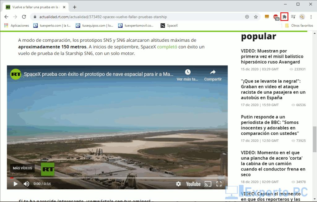 Usar Free Video Downloader en Chrome 1