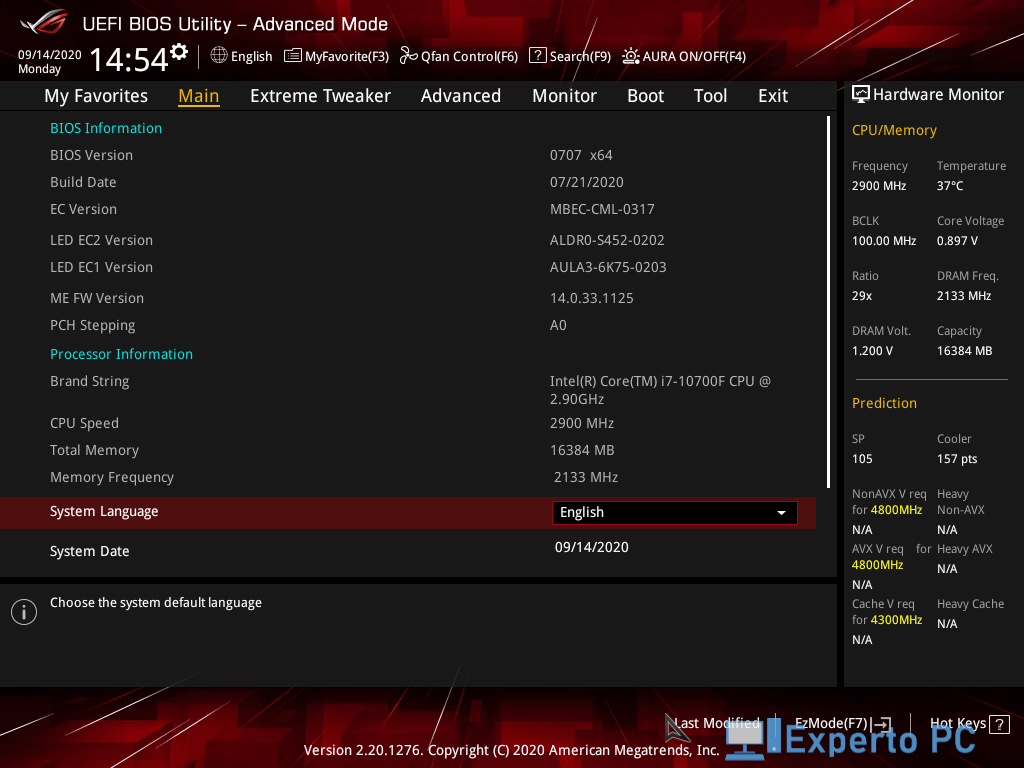 asus maximus xii formula review bios 4 29