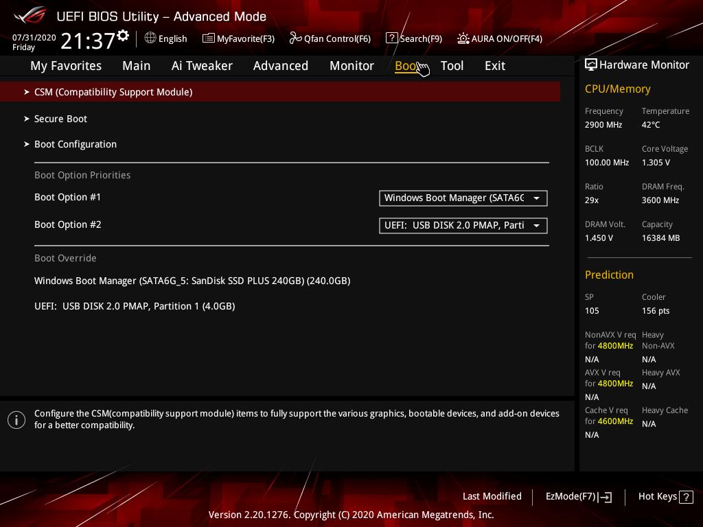 asus rog strix z490 e gaming review bios 13 48