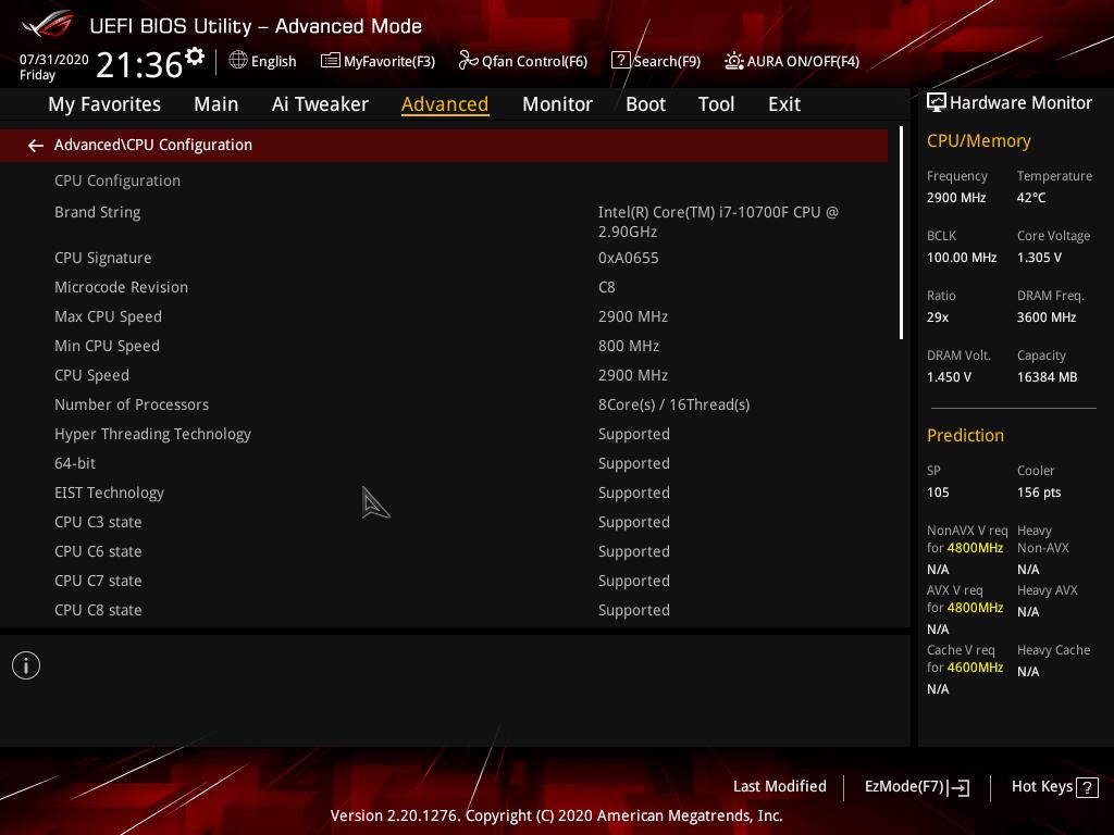 asus rog strix z490 e gaming review bios 9 40
