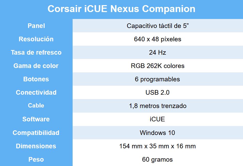 corsair-icue-nexus-companion-review-caracteristicas