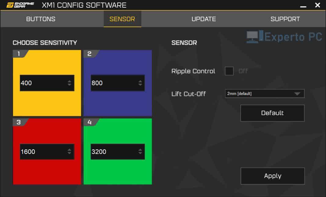 endgame gear xm1 v2 software sensors 27