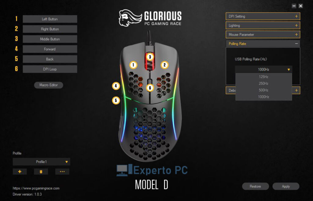 glorious model d software polling 3