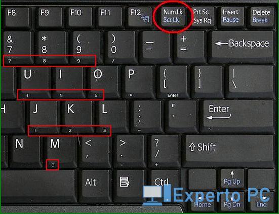 hacer el símbolo al cuadrado con código ASCII en portátiles