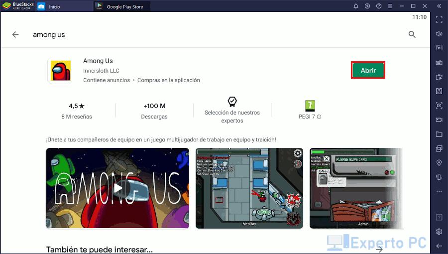 jugar gratis Among Us en tu PC Windows 10 11