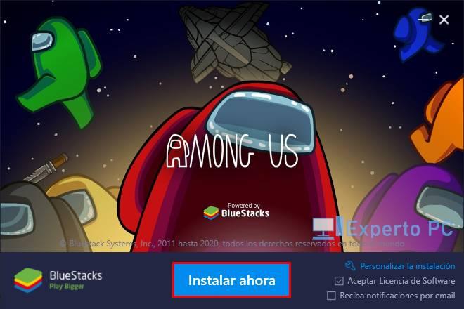 jugar gratis Among Us en tu PC Windows 10 3