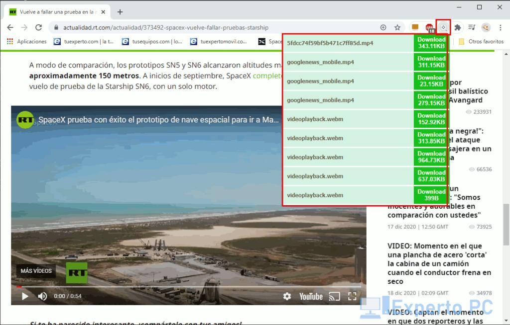 usar Free Video Downloader en Chrome 3
