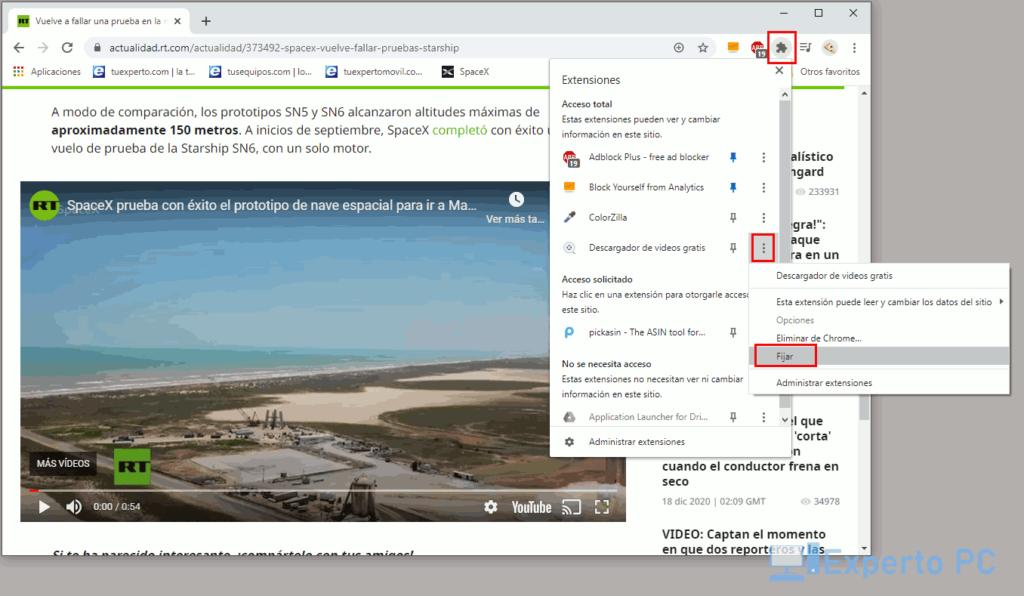 usar Free Video Downloader en Chrome 4